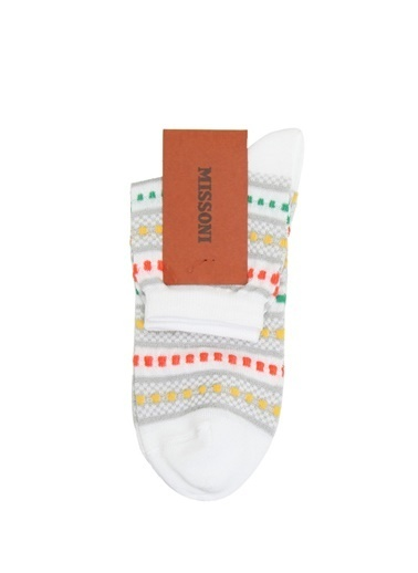 Missoni Çorap Beyaz